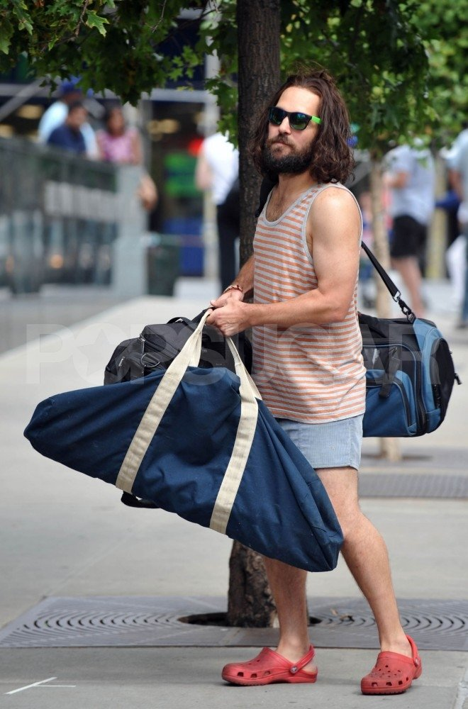 Paul Rudd filmed Our Idiot Brother in a silly costume while in Williamsburg, Brooklyn in Aug. 2010.