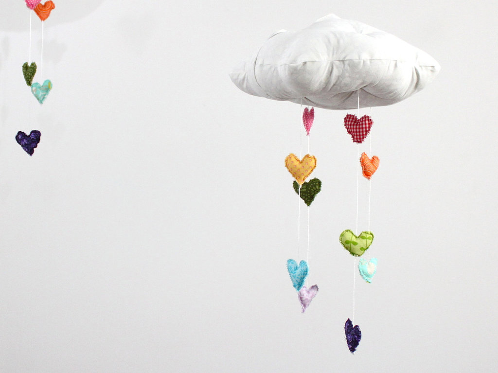 Heart Rainbow Cloud Mobile ($49)