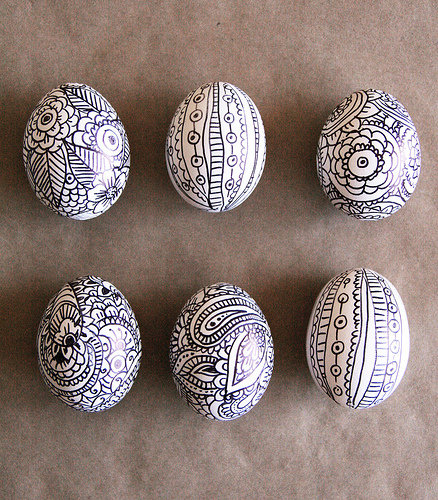 Use a Sharpie to re-create these doodle Easter eggs.