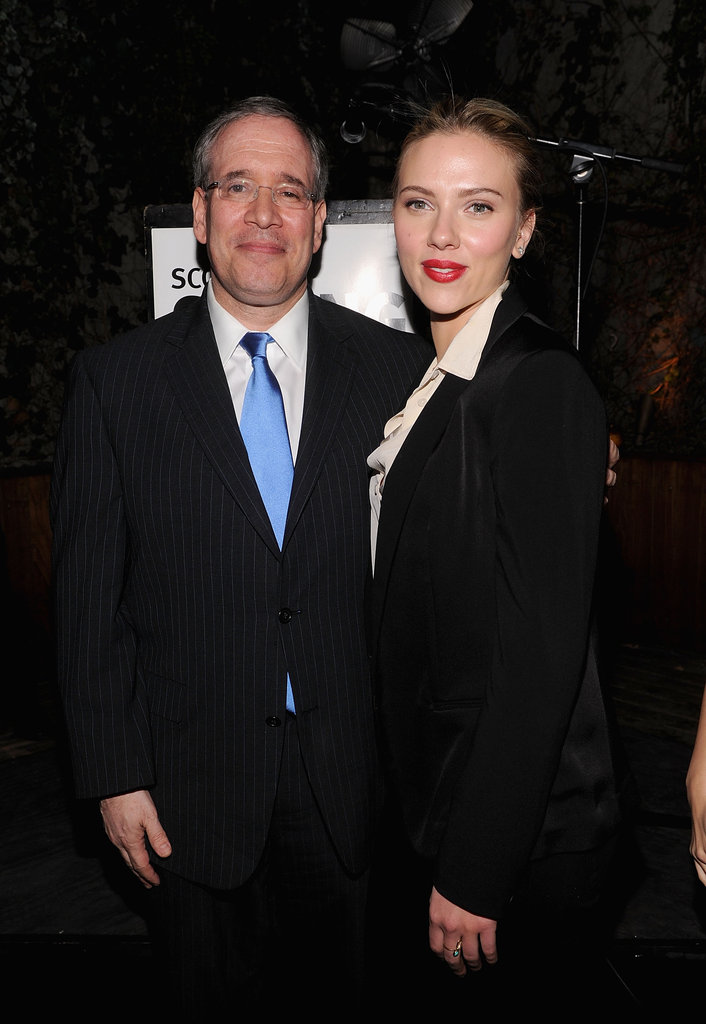 Scarlett Johansson posed with Scott Stringer, a family friend and 2013 mayoral candidate, in NYC.