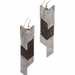 We love the juxtaposition of silver against gunmetal leather in this simple chevron-patterned earring set. Each unique pair is handcrafted by marginalized Muslim women in Northern India. To help break the cycle, proceeds from this jewelry go back to the women and their children in regard to health care and literacy.