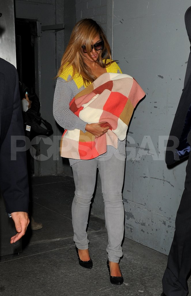Beyonce Knowles with daughter Blue Carter.
