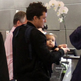 Orlando Bloom Pictures at LAX With Flynn Bloom