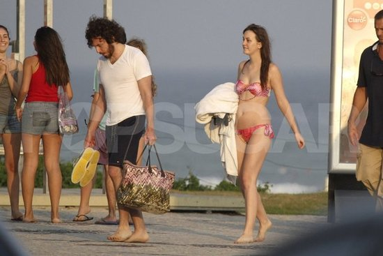 Leighton Meester Wears a Bikini For Her Beach Makeout Session