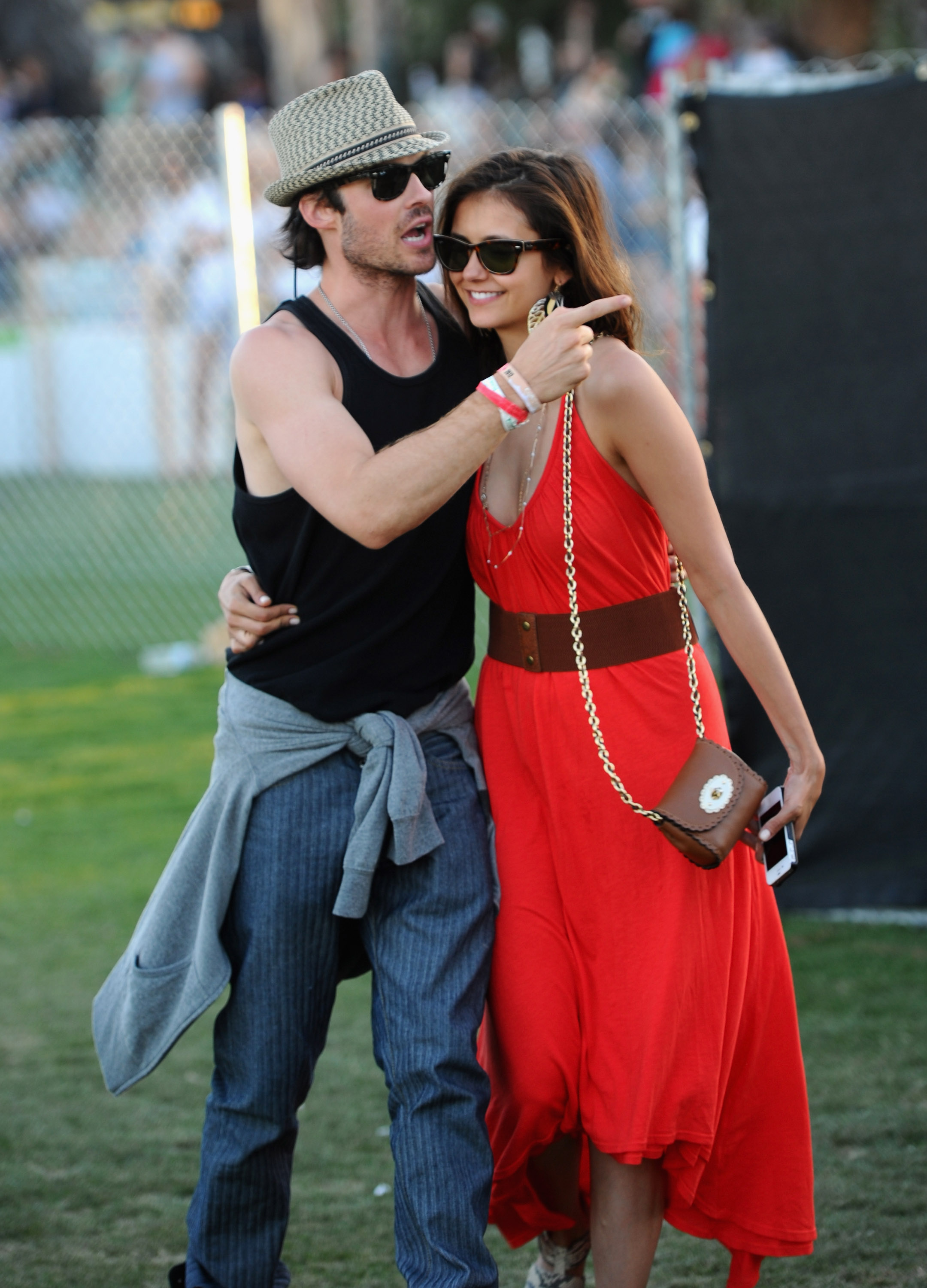 Nina Dobrev and Ian Somerhalder showed PDA on the last day of the festival.