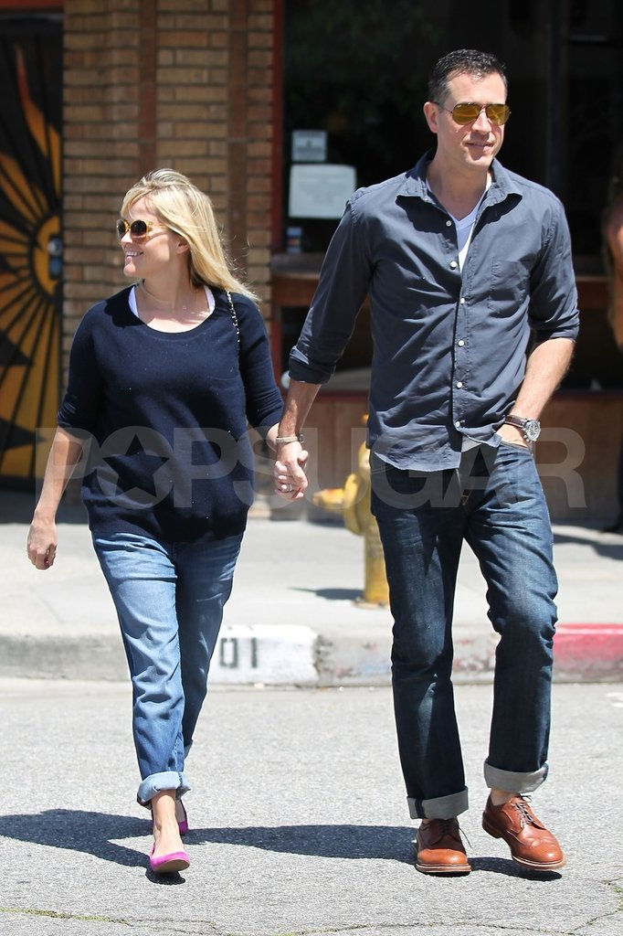 Pregnant Reese Witherspoon held hands in LA with Jim Toth.