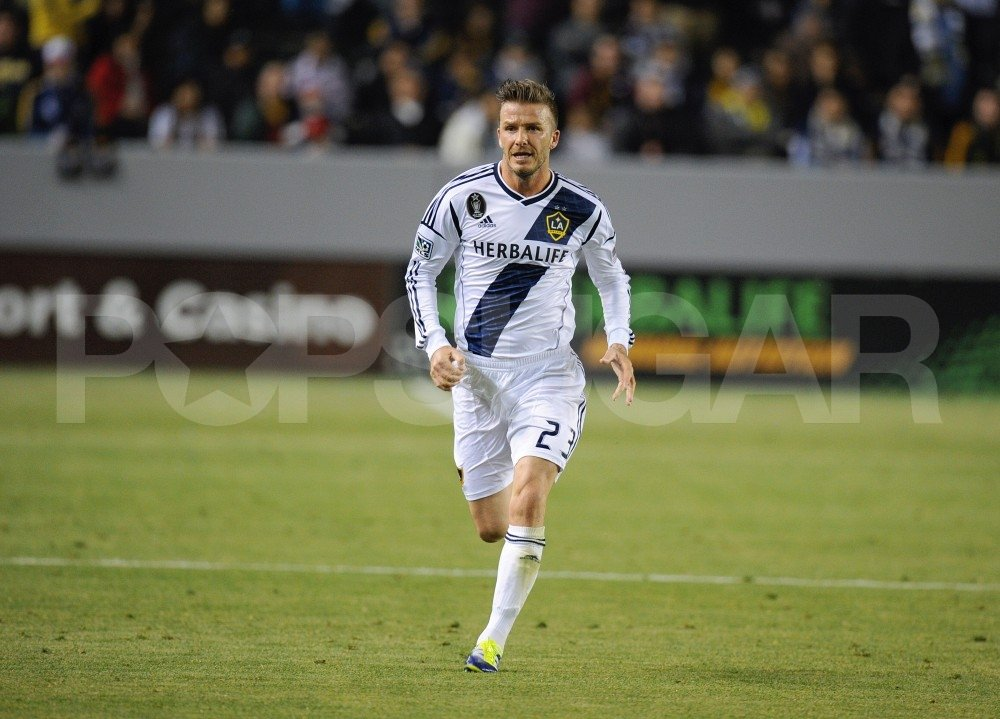 David Beckham in his Galaxy uniform.
