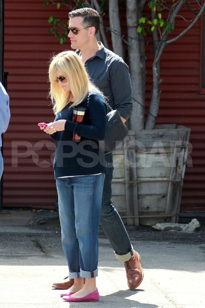 Pregnant Reese Witherspoon and her husband Jim Toth went to church.