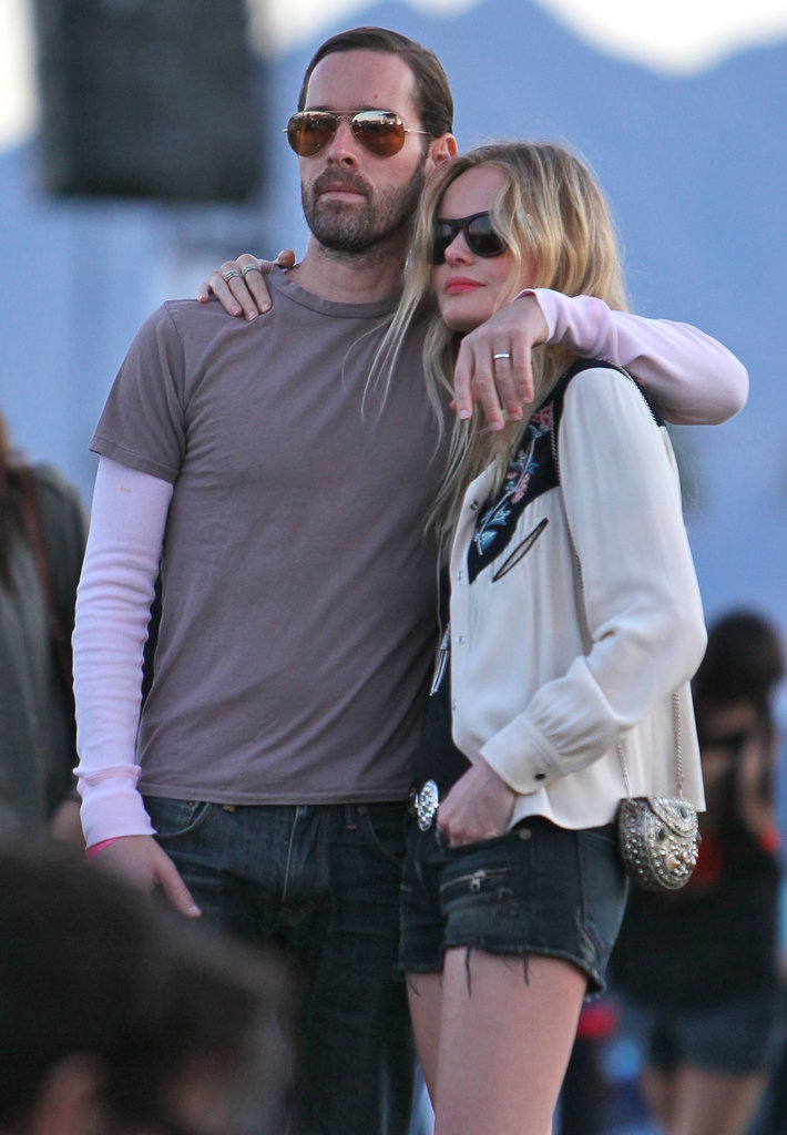 Kate Bosworth and Michael Polish got close to watch a show.