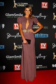 Pictures of Jesinta Campbell on the Red Carpet at the 2012 Logie Awards in Sexy Slit Burberry Dress: Thoughts?