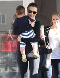 Miranda Kerr took Flynn to yoga.