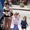 Jennifer Garner Nail Salon Pictures With Violet &amp; Seraphina
