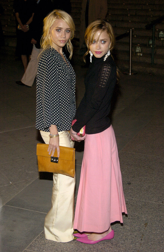 Ashley Olsen and Mary-Kate Olsen posed together at the third annual Tribeca Film Festival Vanity Fair party in May 2004.