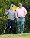 Zac Efron joked around on the green.
