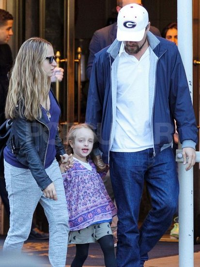 Leonardo DiCaprio Holds Hands With Ruby During Lunch With the Maguires