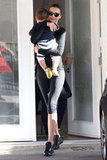 Miranda Kerr left a yoga class in LA with Flynn.