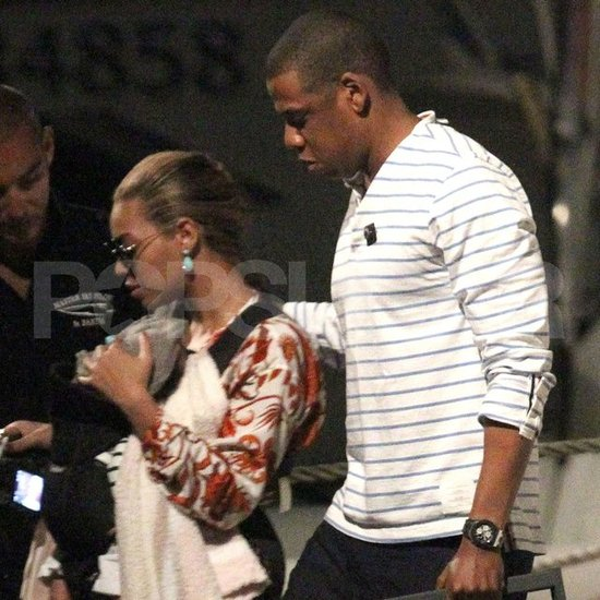 Beyoncé Knowles carried Blue Carter in St. Barts with Jay-Z.