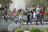 Victoria Beckham and David Beckham in Napa for Easter with Gordon Ramsay and his family.
