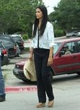 Camila Alves after lunch with Matthew McConaughey and son Levi on Easter Sunday in Texas.
