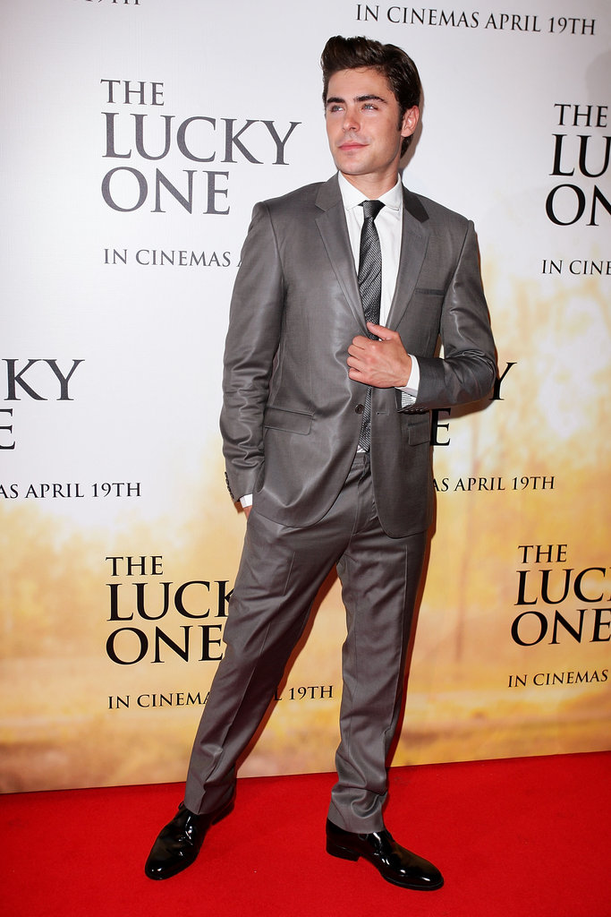 Zac Efron suited up for the world premiere of The Lucky One.