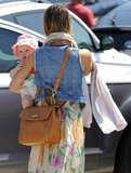 Jessica Alba carried baby Haven Warren in LA.