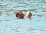 Naomi Watts and Liev Schreiber took some time for themselves in the water in Barbados.
