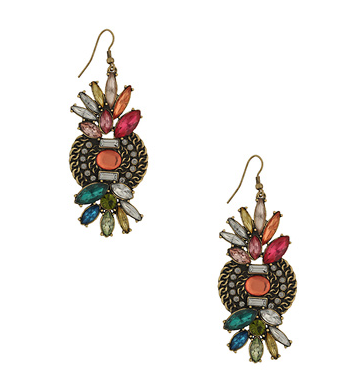 These gems would work perfectly day to night.  Forver 21 Jeweled Cluster Earrings ($7)