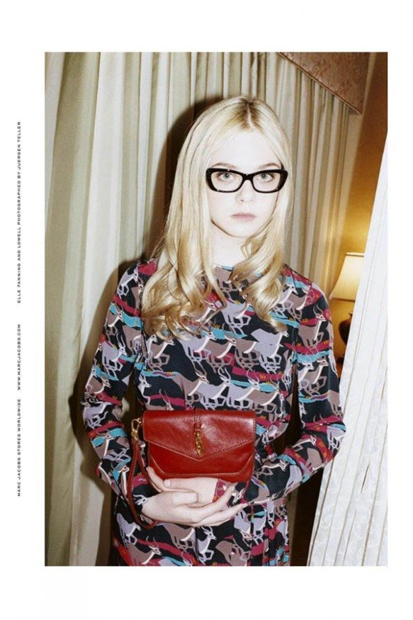 Following in her sister's footsteps, Elle Fanning starred in Marc's Fall 2011 campaign. Unlike Dakota, though, Elle portrayed a polished ladylike minx well beyond her teenage years.