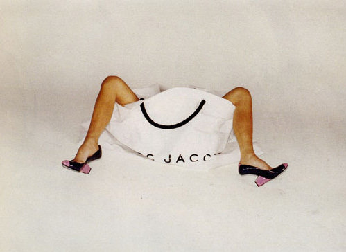 Another shot of Victoria Beckham's infamous leggy Marc Jacobs Spring 2008 ad.
