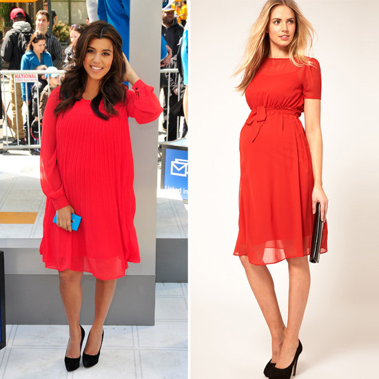 Kourtney Kardashian's Red Hot Frock
