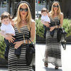 Rachel Zoe Striped Maxi Dress