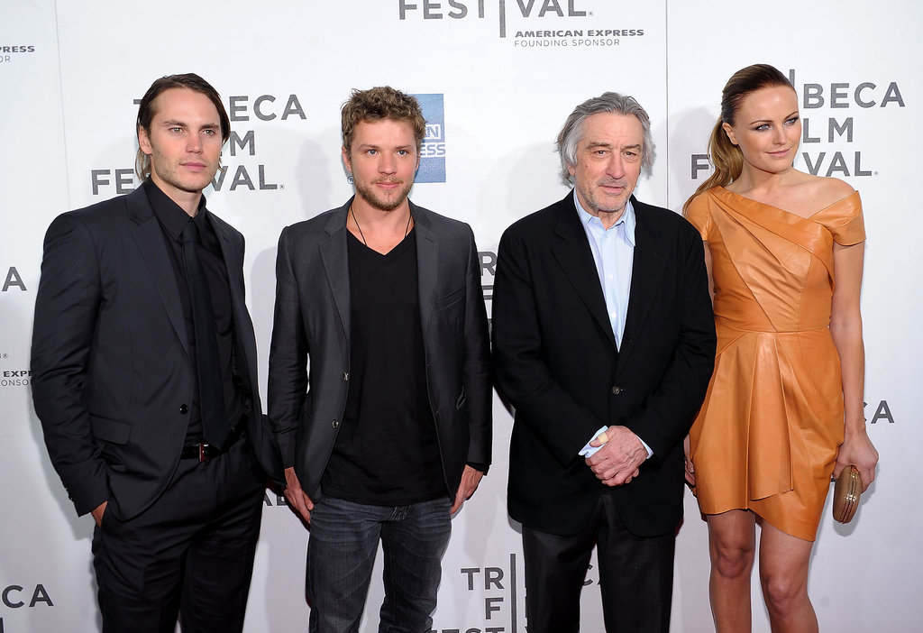 Taylor Kitsch, Ryan Phillippe, Robert De Niro, and Malin Akerman linked up for the Tribeca Film Festival premiere of The Bang Bang Club in April 2011.