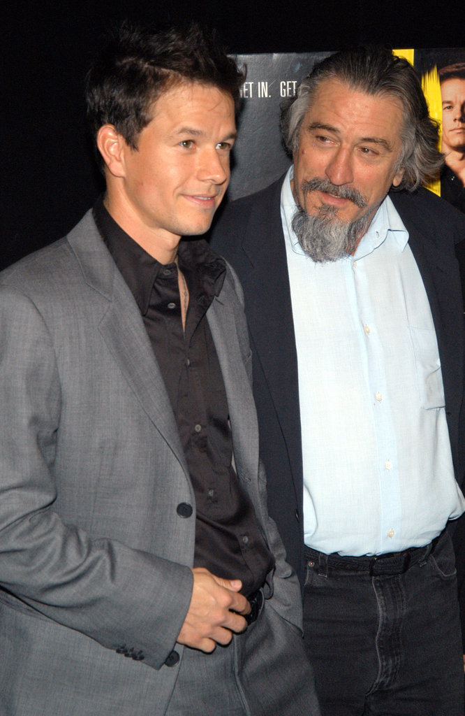 Mark Wahlberg gave Robert De Niro a laugh as they got together during the Tribeca Film Festival for The Italian Job premiere in May 2003.