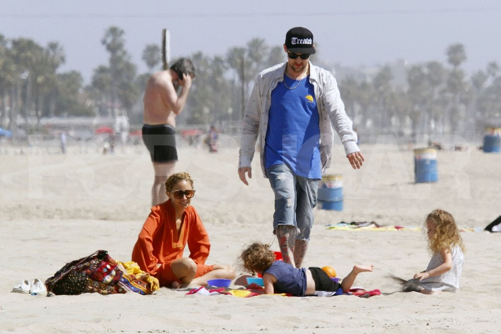 Nicole Richie and Joel Madden set up camp on the beach in Malibu for Easter with the family.