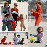 Nicole Richie and Joel Madden Hit the Beach With Harlow and Sparrow