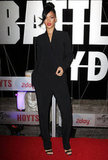 Rihanna wore an all-black ensemble to the Battleship premiere in Sydney.