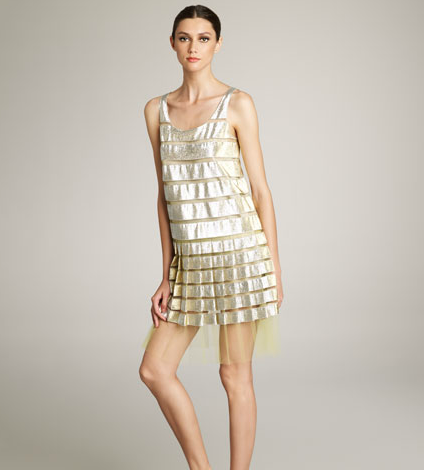 This delicate dress strikes us as garden party ready — just add a sweet clutch to polish it off. Marc Jacobs Metallic and Tulle Dress ($2,900)