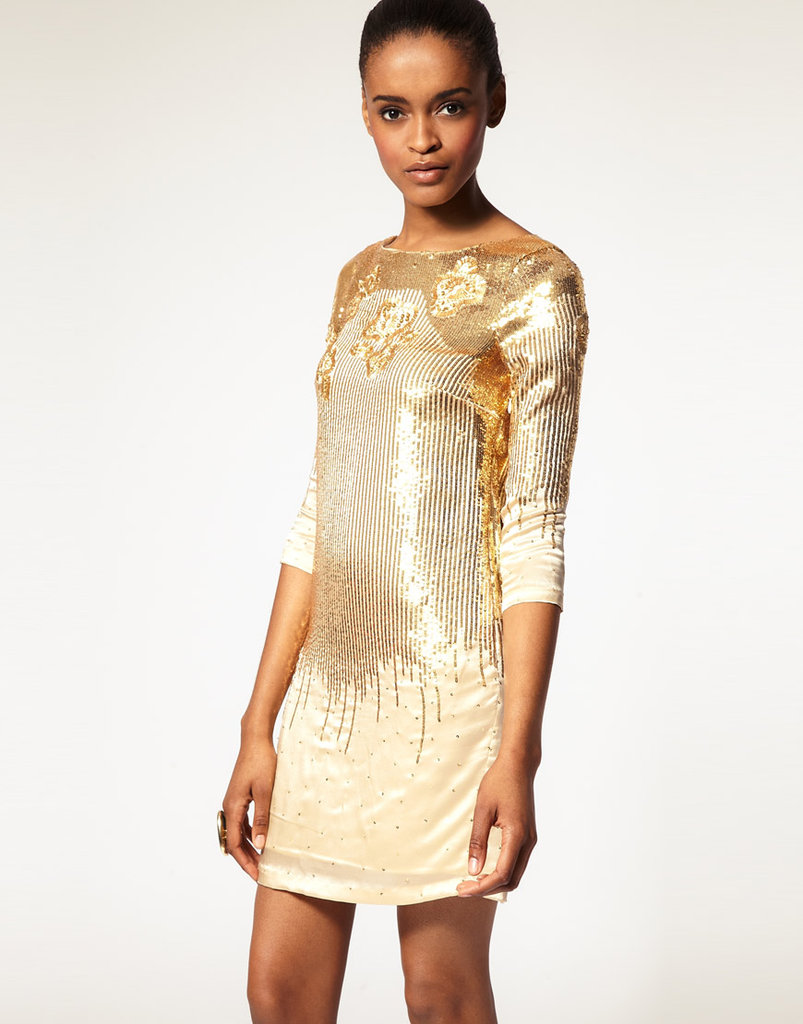Dress this long-sleeved cocktail dress with structured black booties for an edgier feel. Halston Heritage Embellished Dress ($638)