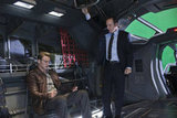 Chris Evans as Steve Rogers and Clark Gregg as Agent Coulson in The Avengers.  Photo courtesy of Disney