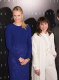 Charlize Theron and Noomi Rapace posed together at the Prometheus premiere in Paris.