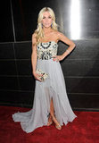 Tinsley Mortimer made her red-carpet appearance in a jeweled strapless gown.