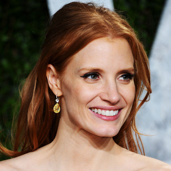 Star of The Help, Jessica Chastain, wowed at the Oscars with her winged eye. She's the perfect poster girl for this look as she keeps her wing classic, her lip natural, but adds a fun twist with gold under-eye liner. Steal her style with Face of Australia's Gold Mechanical Eyeliner ($9.95). Stockists: Westfield