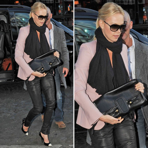 Charlize Theron Light Pink Blazer