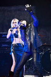 Taylor Momsen share the stage with Marilyn Manson at the Revolver Golden God Awards in LA.
