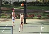 Hayden Panettiere played some hoops with boyfriend, New York Jets wide receiver, Scotty McKnight, in Hawaii.