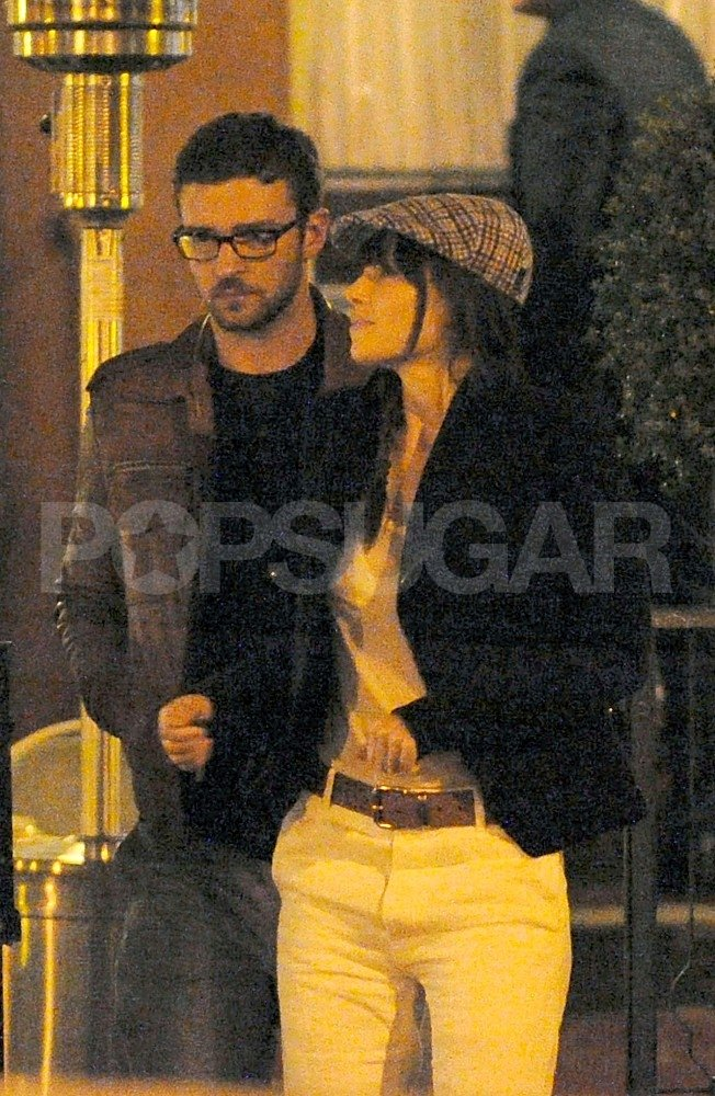 Justin Timberlake stayed close to Jessica Biel while vacationing in Europe together.