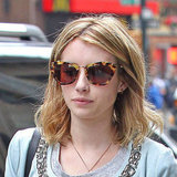 Emma Roberts's feline-inspired Miu Miu frames are the purr-fect finish to her off-duty ensemble.