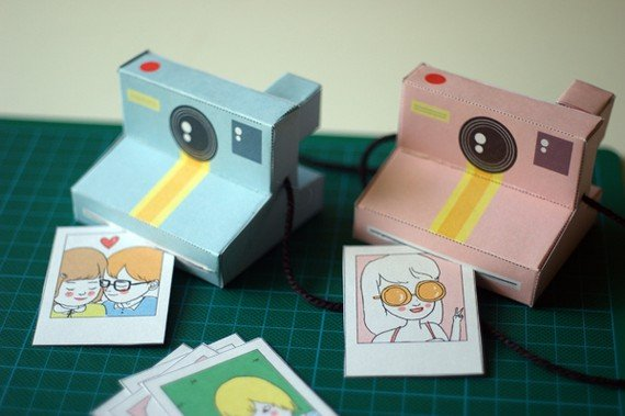 Perfect Paper Polaroid Cameras ($4)
