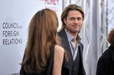 Brad Pitt flashed a proud smile at Angelina Jolie at the December 2011 NYC premiere of In the Land of Blood and Honey.