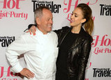 Jessica Alba gave Wolfgang Puck a hug at the Condé Nast Traveler Hot List Party in LA.